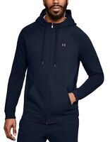 Under Armour Herren Kapuzen Jacke UA Rival Fleece Full Zip Jacket blau