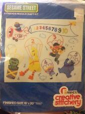 "1978 ""Sesame Muppets Skyriders"" Needlecraft Kit By Creative Stitchery RARE"