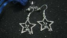 Fairy sitting on a wishing star earrings fantasy jewellery mythical pretty gift