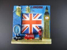 London Union Jack Souvenir Poly Magnet Big Ben,Tower Bridge,Taxi,Red Bus ..