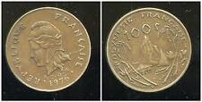 POLYNESIE francaise 100 francs 1976