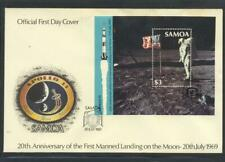 Samoa 1989 SG MS 834 Moonlanding Anniversary Space First Day Cover