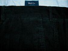 MEN'S FACONNABLE-WAIST 42R- BLACK-FLAT FRONT CORDUROY PANTS