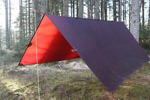 3x3 tarp multiple use waxed canvas leather bushcraft glamping