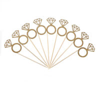 10pcs Diamond Ring Cupcake Toppers Engagement Wedding Party Table DecorationsH&T