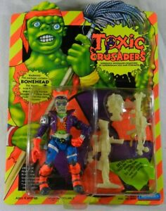 Vintage Toxic Crusaders Action Figure Bonehead Playmates Toys 1991 MOC Unpunched