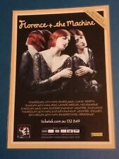 FLORENCE AND THE MACHINE - 2012 Australia Tour - Laminated Promo Poster
