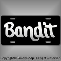 Smokey & The Bandit  Reproduction Aluminum License Plate Tag Brushed Aluminum
