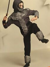 NEW boys ARMORED NINJA HALLOWEEN COSTUME complete full outfit LARGE size 12/14
