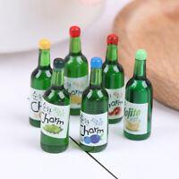 5x 1:12 Dollhouse Miniature Fruit Juice Bottles Model Dolls Kitchen Food YK