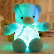 30CM Baby LED Flash Light Luminous Stuffed Teddy Bear Plush Doll Kids Toys Gifts
