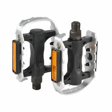 """WELLGO C25 MTB BMX Aluminum Cost-effective Bicycle Cycling Pedals Silver 9/16"""""""