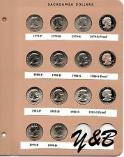 1979 1980 1981 1999 PDS PROOF SUSAN B ANTHONY DOLLAR COMPLETE SET DANSCO