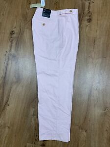 $69 Banana Republic Petite Avery Linen Blend Tailored Ankle Pants Size 12P Pink