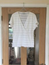 Next Size 18 Lovely White Cap Sleeved Textured Top