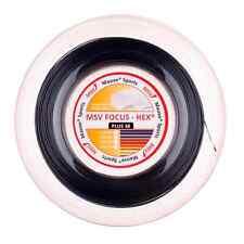 TENNIS STRING MSV FOCUS-HEX PLUS 38 BLACK 4 GAUGES 200M
