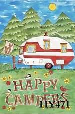 """Campers Mini 12X18"""" Garden Flag Decorative Flags Banner Hy471"""