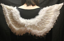 Christmas Party Fancy Dress Outfit Angel Wings Fairy Feather White Silver 87cm