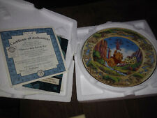bradford exchange winnie the pooh collectible plate flutterbys help find the way