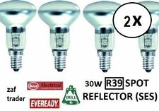 30W SES R39 E14 LAMP LIGHT BULBS LAVA LAMP CLEAR REFLECTOR - PACK OF 2 BULBS