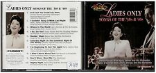 1786 - CD - LADIES ONLY SONGS OF THE '30S & '40S