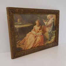 Reproduction romantisme encadrement bois belle époque art-déco vintage