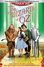 The Wizard of Oz IMAX 3D Re-Release Original D/S Movie Poster 27x40 NEW 2013