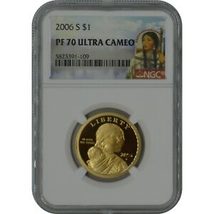 2006-S Sacagawea Proof Coin NGC PF70 Ultra Cameo Sacagawea Label