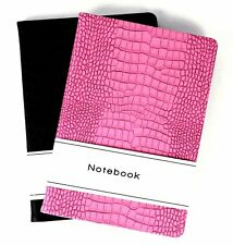 A5 Leather Notepad Pad - Book Lined 140 Page Paper Notebook Tabbed Pattern