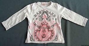 maat 80 BABY BARB shirt longsleeve L32cm B27cm wit met print cruise collection