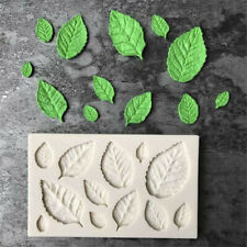 Rose Leaves Silicone Fondant Mould Cake Tree Flowers Leaf Decorating Baking Mold