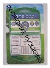 NEW!  Panasonic Eneloop Rechargeable Batteries Kit w/ Charger 6 AA & 4 AAA ,
