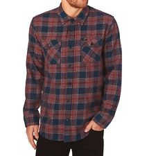 NWT Men's RVCA Lowland Flannel Button Down Shirt Regular Fit Size L