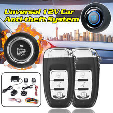 Dc 12V Lcd Auto Car Alarm Keyless Entry Push Button 2 Remote Security System kit