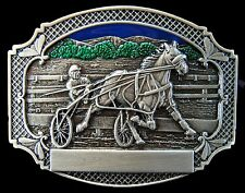 Horse Race Belt Buckle Horses Harness Races Trot Racing Carts Boucle de Ceinture