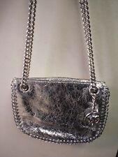 Genuine Michael Kors Silver Bag with Chain Straps