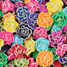 30pcs Mixed 20mm Polymer Fimo Clay Rose Flower Loose Spacer beads SL101