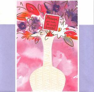 Happy Valentine's Day Mama Mom You Make A Beautiful World Hallmark Mahogany Card