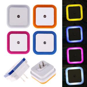 Sensor LED Night Light EU Plug Mini Square Night Lights For Baby Room Bedroom