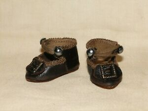 """leather shoes BRU style for antique doll size 1,7"""""""