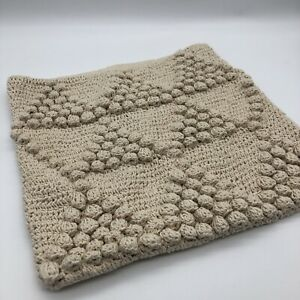 New Claros 100% Cotton Cushion Cover 40 x 40cm Woven Cream Ecru Textured