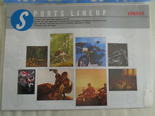 Yamaha Sports Lineup range brochure 1992 Japanese market