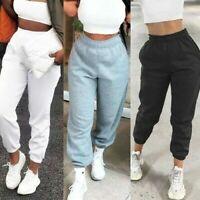 Womens Oversized Ladies Cuffed Fleece Jogging Trouser Jogger Bottoms Jog Pants