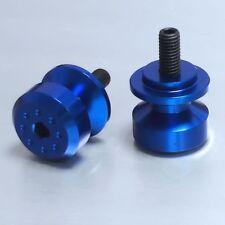 Pro-Bolt Alu Pair Paddock Stand Bobbins M8 Blue Suz GSX-R600 K6-K7 06-07 BOB8B