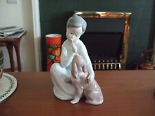 Lladro Figure 4522 Boy with Dog