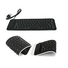 Portable USB Mini Flexible Silicone Keyboard Foldable for Laptop Notebook AU BK