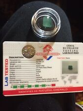NATURAL LOOSE EMERALD GEM 5.64 Ct. 10.79x9.33x 6.59 mm,Square FACETED Lab Tested