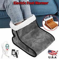 100-240V Electric Foot Warmer Detachable Feet Heating Boot Heater Shoes US Plug.