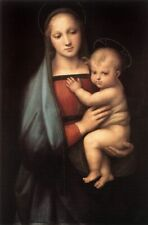 YA748 CANVAS CLASSIC PORTRAIT OIL PAINTING COPY GRANDUCA MADONNA UNFRAMED 36""
