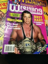 PWI Pro Wrestling Illustrated Magazine WWF WCW - Aug 1994 - Bret Hart + Poster